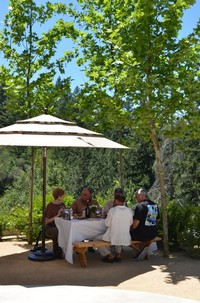 A group Educational Tasting at the winery